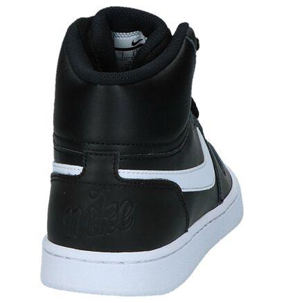 Zwarte Sneakers Nike Ebernon Mid in leer (222192)