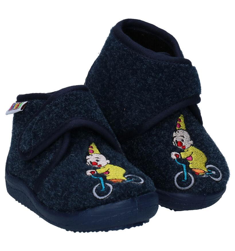 Bumba Blauwe Pantoffels in stof (283453)