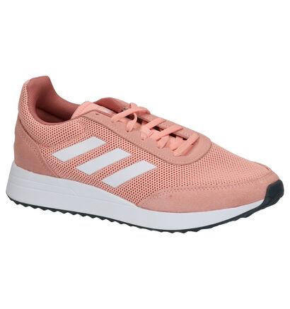 adidas Run 70S Witte Sneakers in daim (252572)