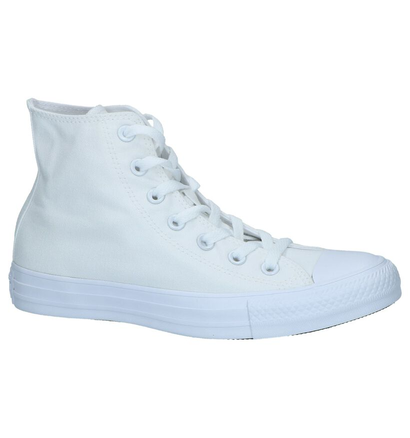 Zwarte Sneakers Converse CT All Star Hi in stof (238368)