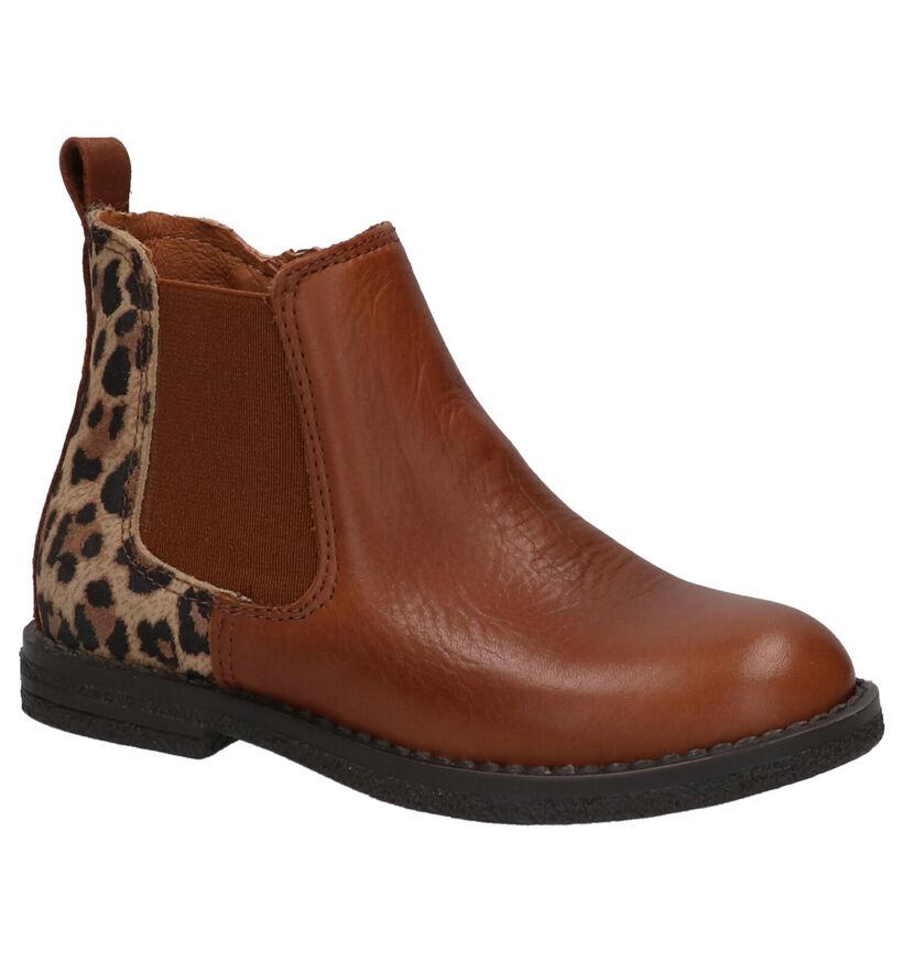 Milo & Mila Ago Cognac Boots in lakleer (257716)