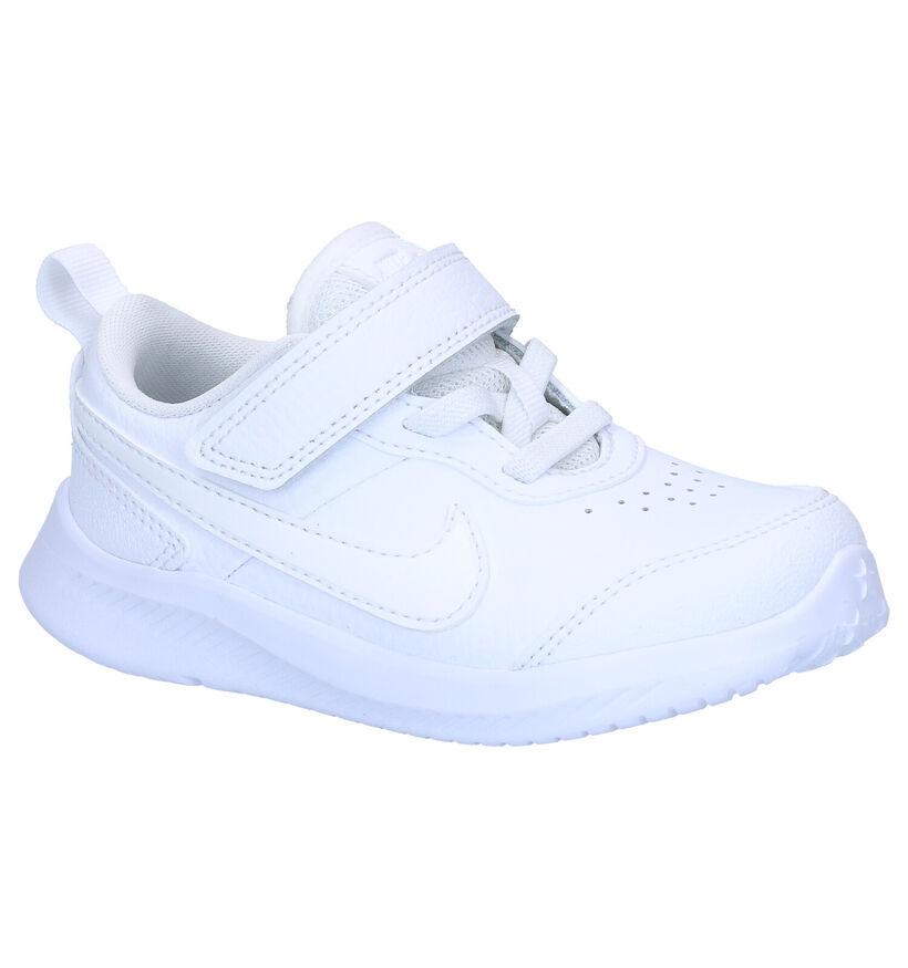 Nike Varsity Baskets en Blanc en simili cuir (277503)