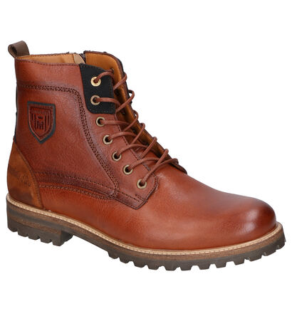 Pantofola d'Oro Ponzano High Cognac Boots in leer (257412)