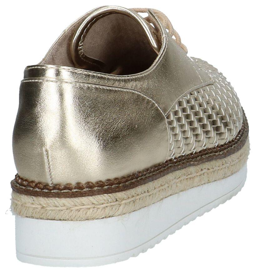 Tamaris Chaussures à lacets en Or en simili cuir (218994)