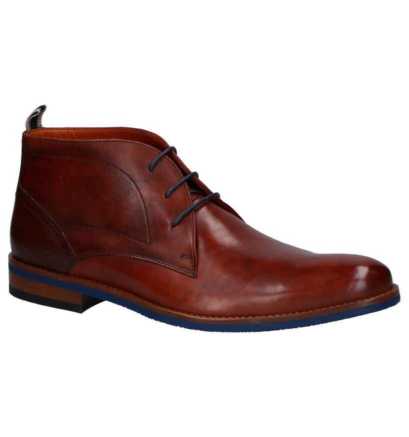 Van Lier Chaussures hautes en Cognac en cuir (261898)