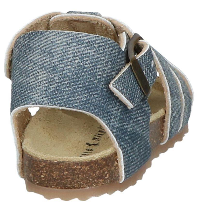 Milo & Mila Sandales pour bébé en Bleu en simili cuir (245127)