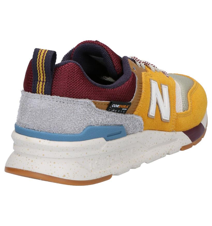 New Balance 997 Grijze Sneakers in daim (261528)