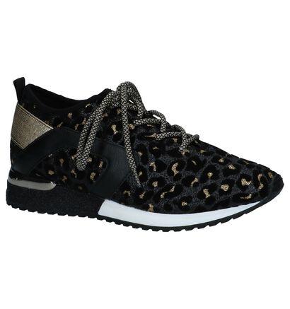 La Strada Zwarte Glitter Sneakers in kunstleer (252672)