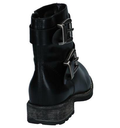 Stoere Kaki Boots met Rits Rieker in kunstleer (234714)