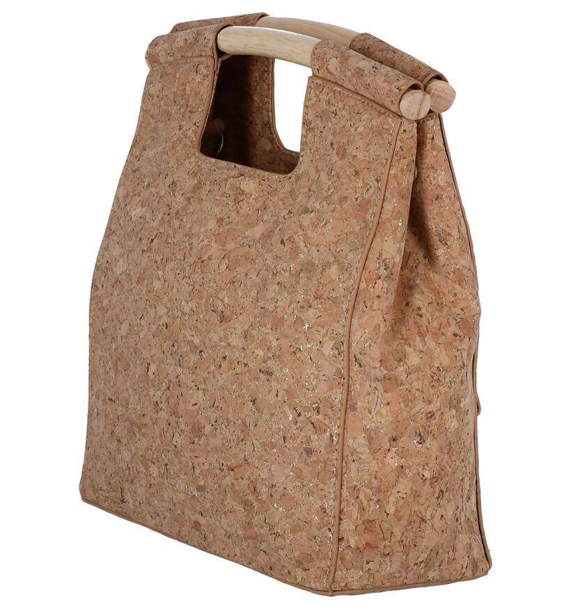 Woomen Coquelicot Vegan Bruine Handtas in kurk (283140)