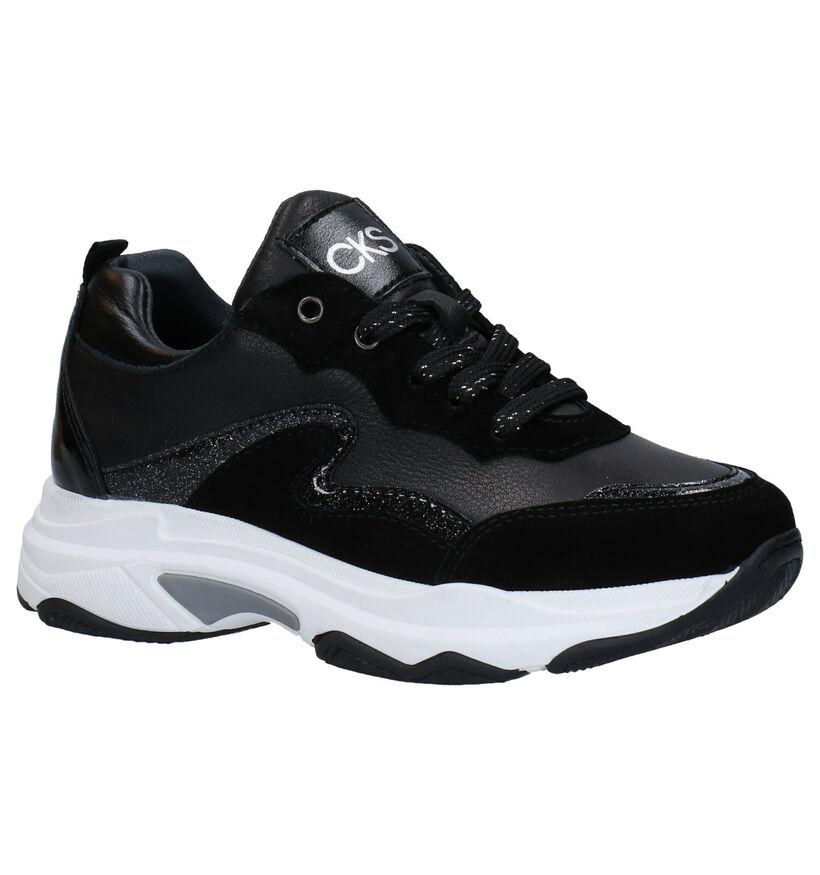 CKS Crispy Zwarte Sneakerss in daim (286720)