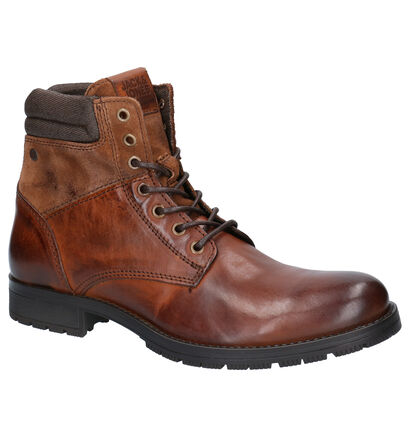 Jack & Jones Boots Zwart in leer (252837)