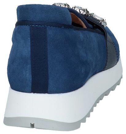 Humat Loafers en Bleu foncé en daim (221379)