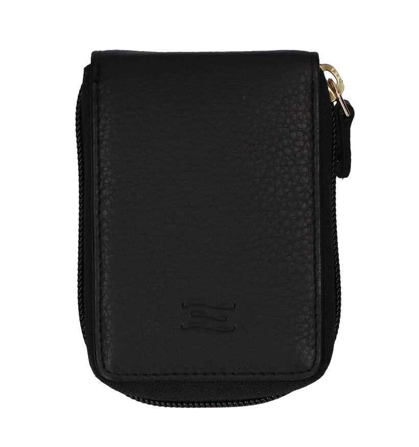 Crinkles Porte-cartes en Noir en cuir (295935)