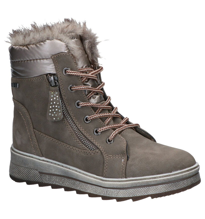 Supremo Bottines en Taupe en simili cuir (277053)