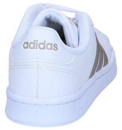 adidas Grand Court Zwarte Sneakers in imitatieleer (252582)