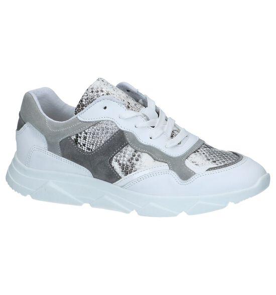 Witte Slangenprint Sneakers Tango Kady 1