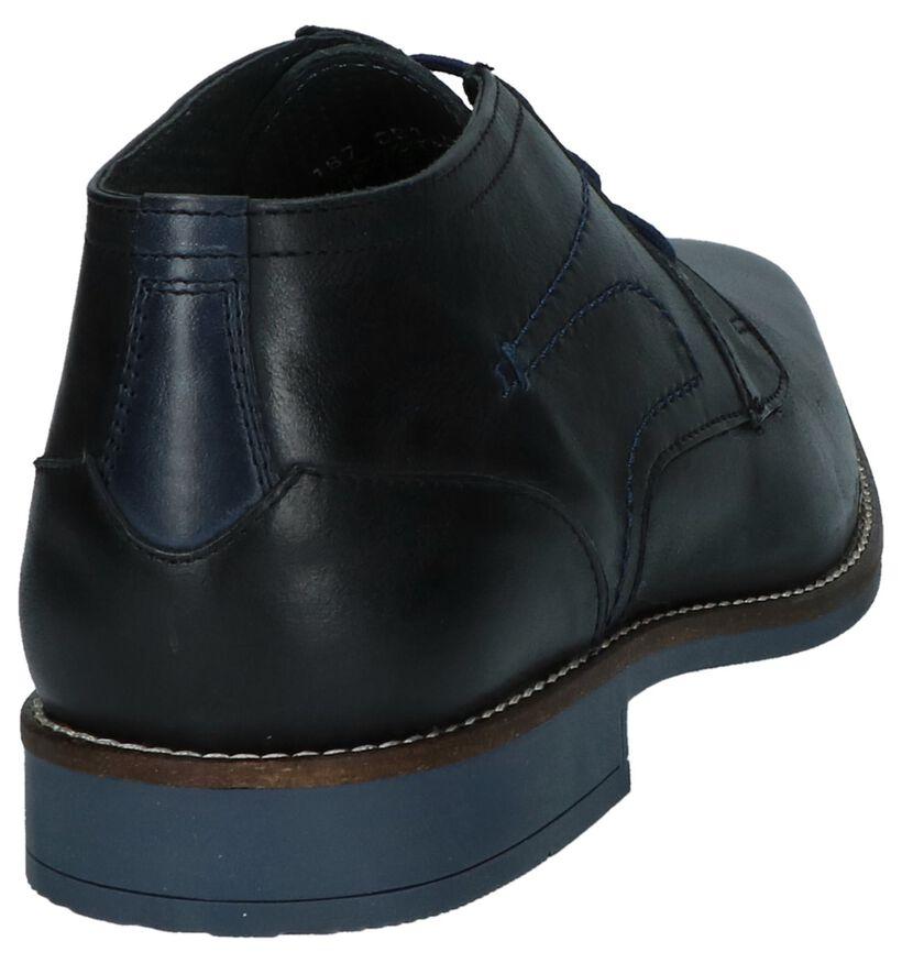 Leone Chaussures habillées en Bleu foncé en cuir (223644)