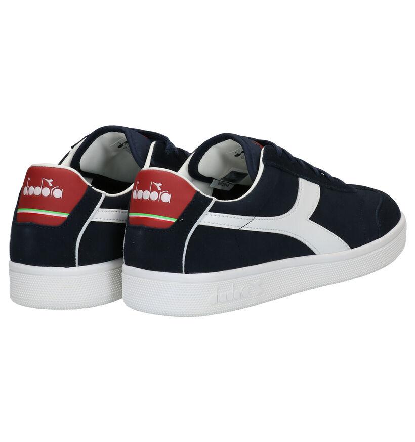 Diadora Kick Blauwe Sneakers in nubuck (277676)