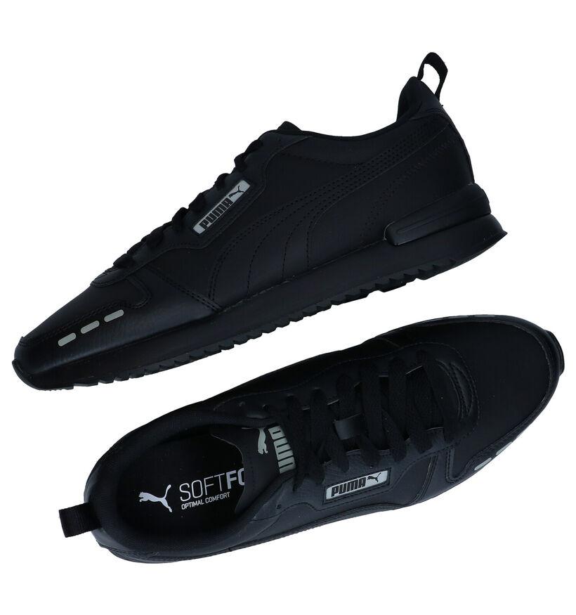 Puma Zwarte Sneakers in stof (276742)