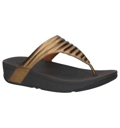 Zwarte Slippers FitFlop Lottie Padded in kunstleer (240971)