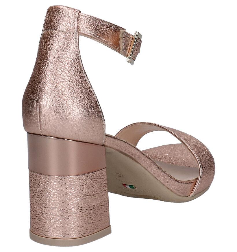 NeroGiardini Sandales à talons en Or rose en cuir (270550)