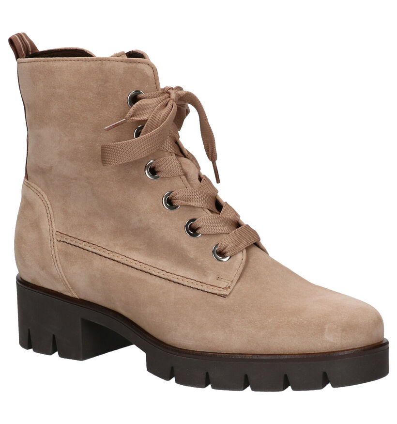 Gabor Best Fitting Taupe Boots in daim (260238)
