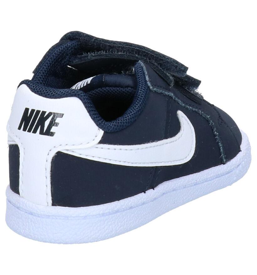 Nike Court Royale Blauwe Sneakers in nubuck (254056)