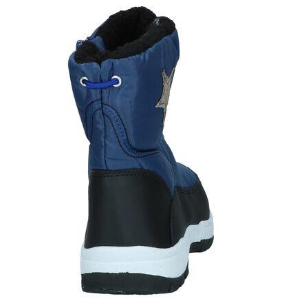Donkerblauwe Snowboots Stuff in stof (255556)