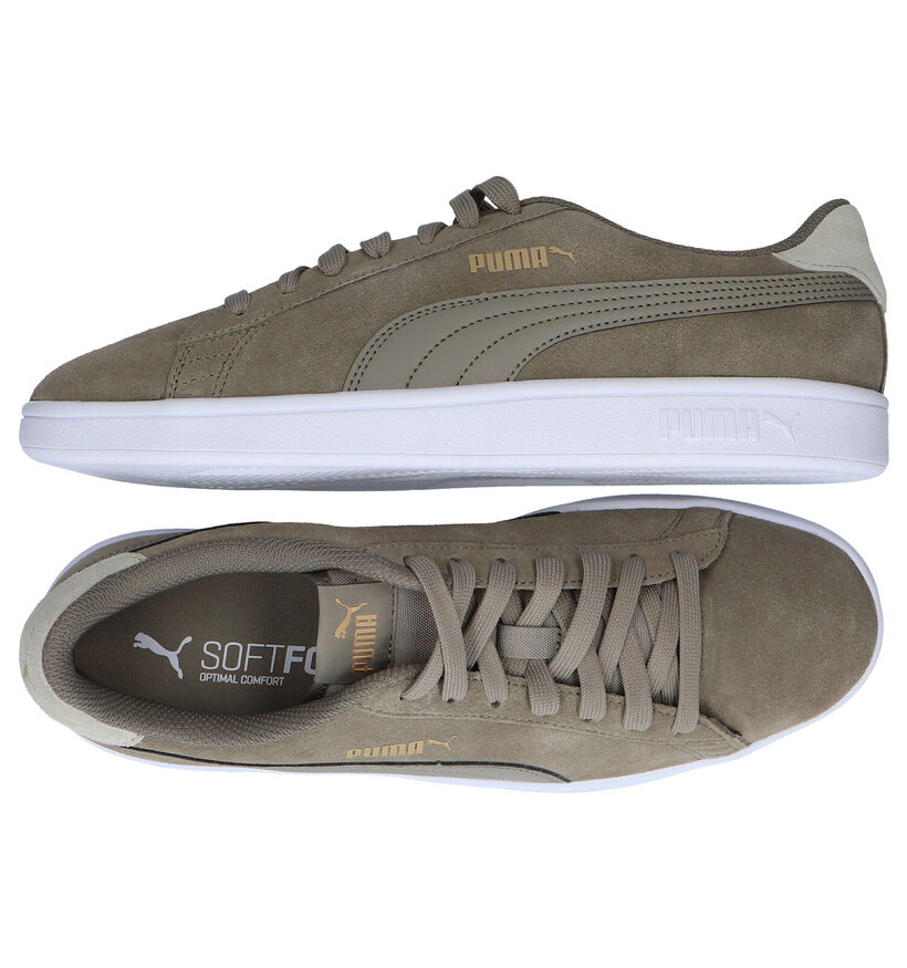 Puma Smash Zwarte Sneakers in nubuck (288559)