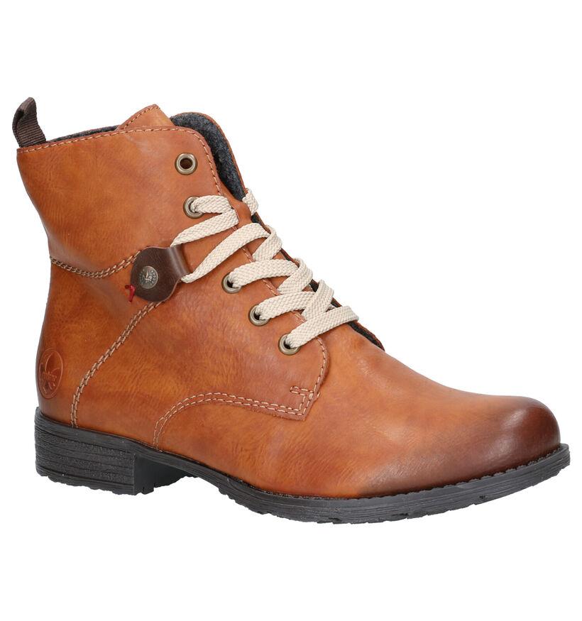 Rieker Cognac Boots in kunstleer (262096)
