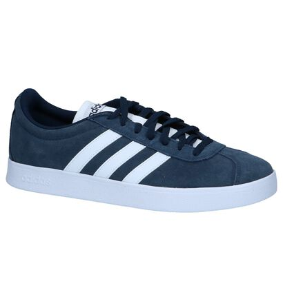 adidas VL Court 2.0 Zwarte Sneakers in daim (237225)