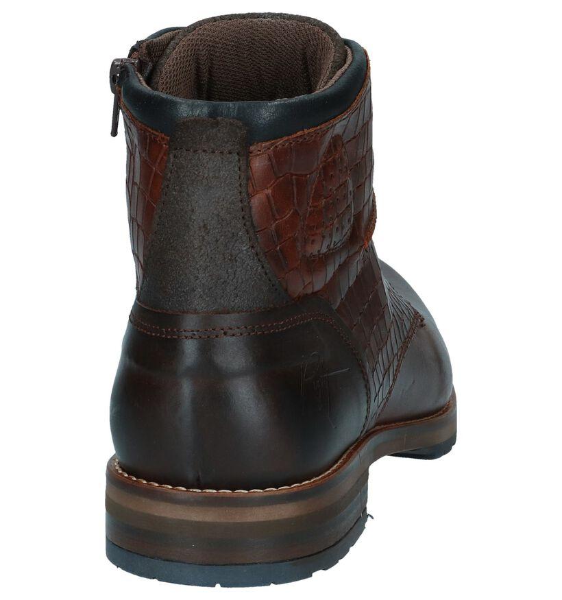 Bullboxer Chaussures hautes en Brun foncé en cuir (256323)