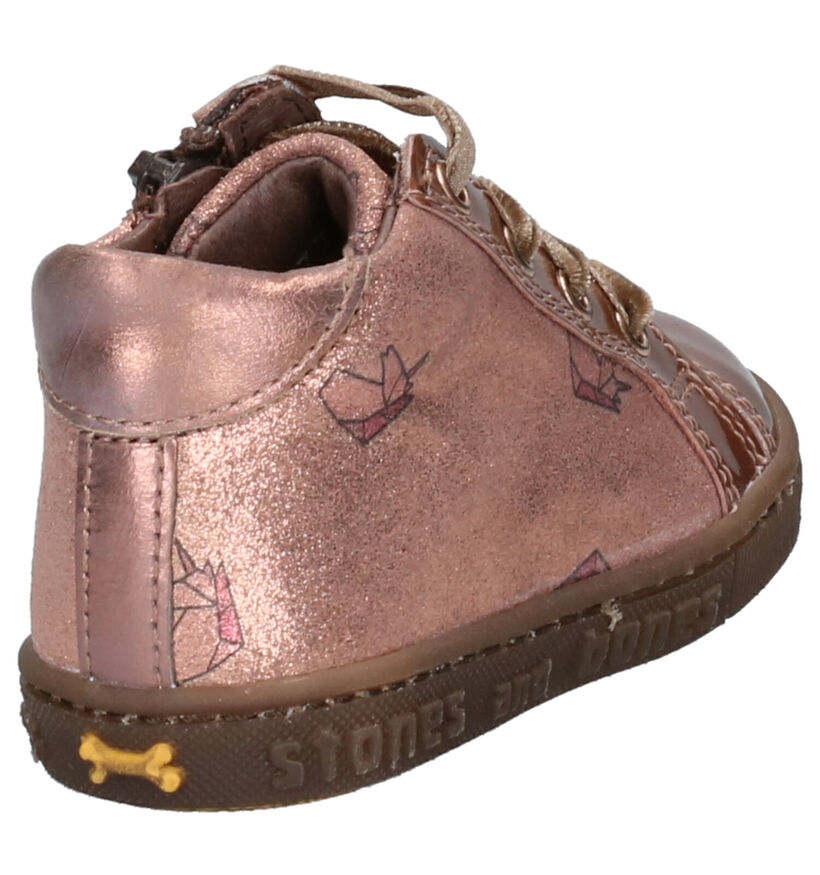 STONES and BONES Bema Chaussures Basses en Rose en cuir verni (255497)