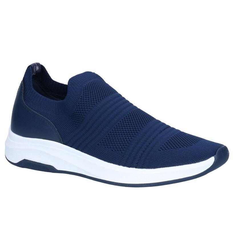 Dazzle Gele Slip-on Sneakers in kunstleer (274257)