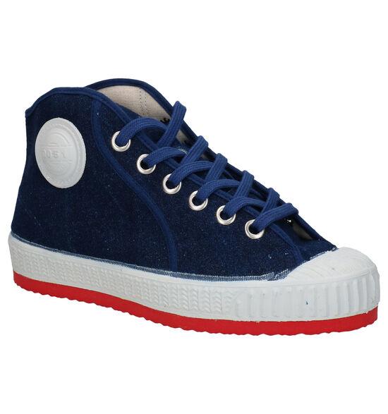 0051 Jeans Baskets en Bleu