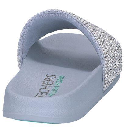 Zilveren Geklede Slippers Skechers Pop Ups Halo in stof (251987)