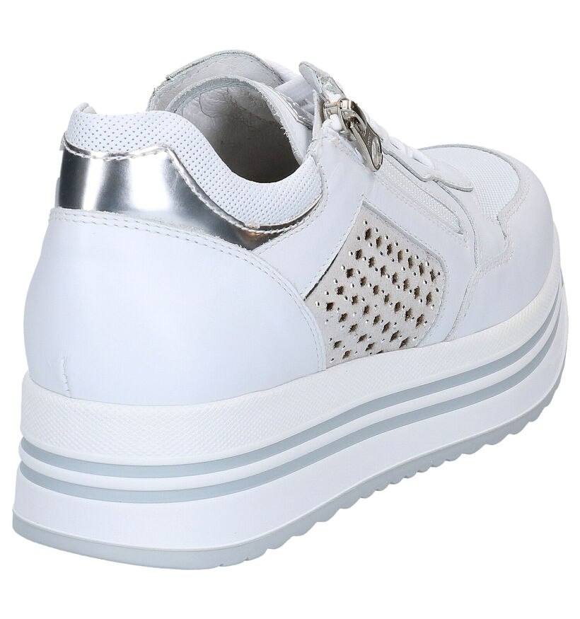 NeroGiardini Chaussures à lacets en Blanc en cuir (270579)