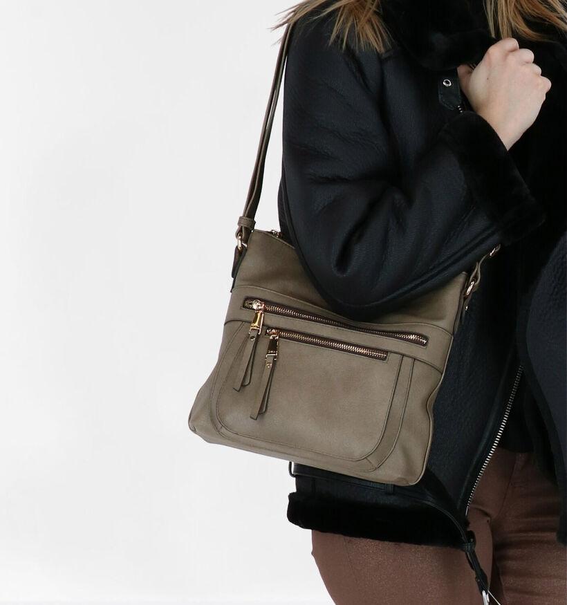 Gabor Tina Sac porté croisé en Noir en simili cuir (279651)