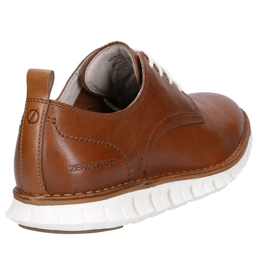Cole Haan Chaussures à lacets en Cognac en cuir (267612)
