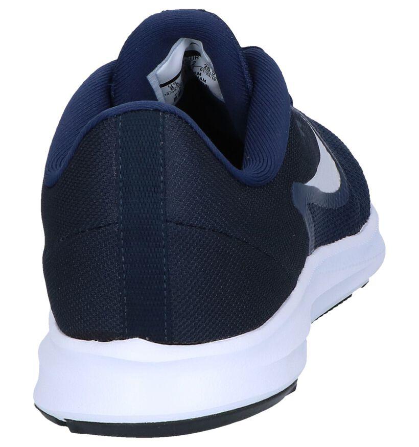 Nike Baskets basses en Bleu foncé en textile (249780)