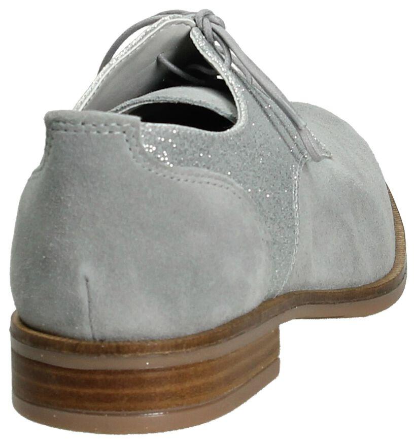 Via Roma Chaussures à lacets en Gris en daim (192287)