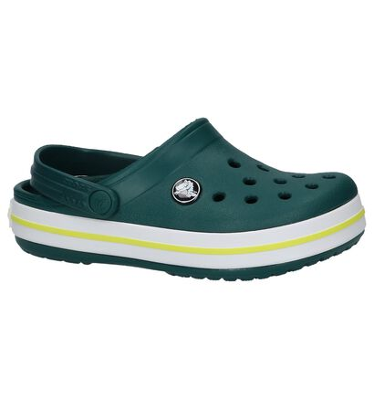 Donker Groene Slippers Crocs Crocband, Groen, pdp