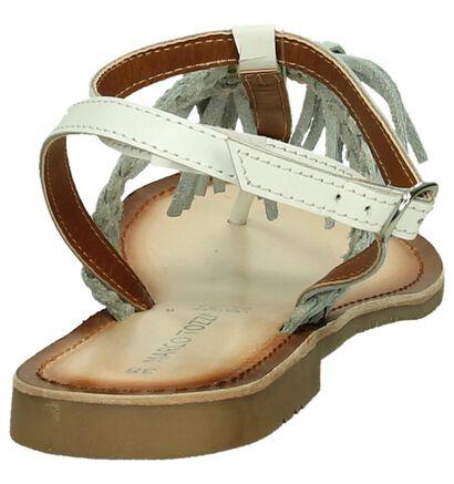 Platte Sandaal Wit met Flosjes Marco Tozzi, Wit, pdp
