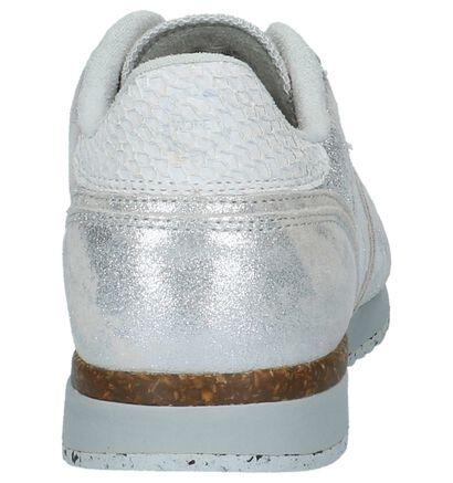 Zilveren Woden Veterschoenen, Zilver, pdp