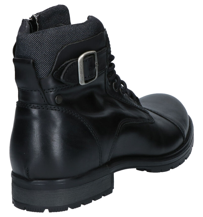 Jack & Jones Zwarte Boots in leer (256277)