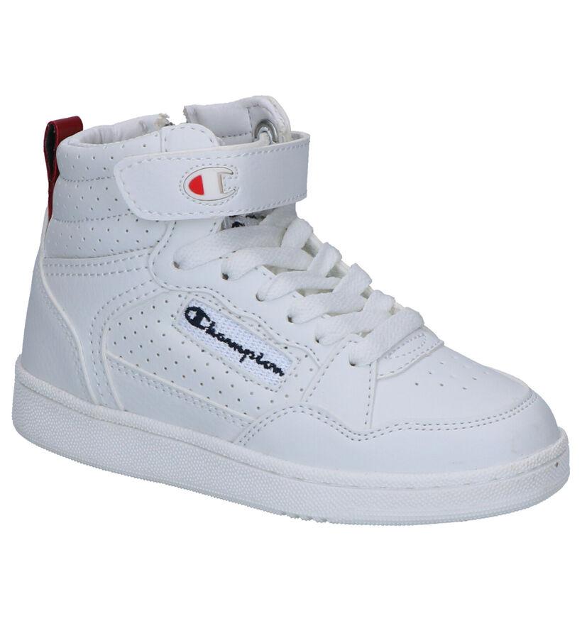 Champion Cleveland Witte Sneakers in kunstleer (253756)