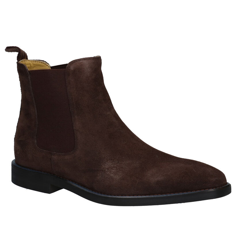Steptronic Mayfair zwarte Chelsea Boots in nubuck (281381)