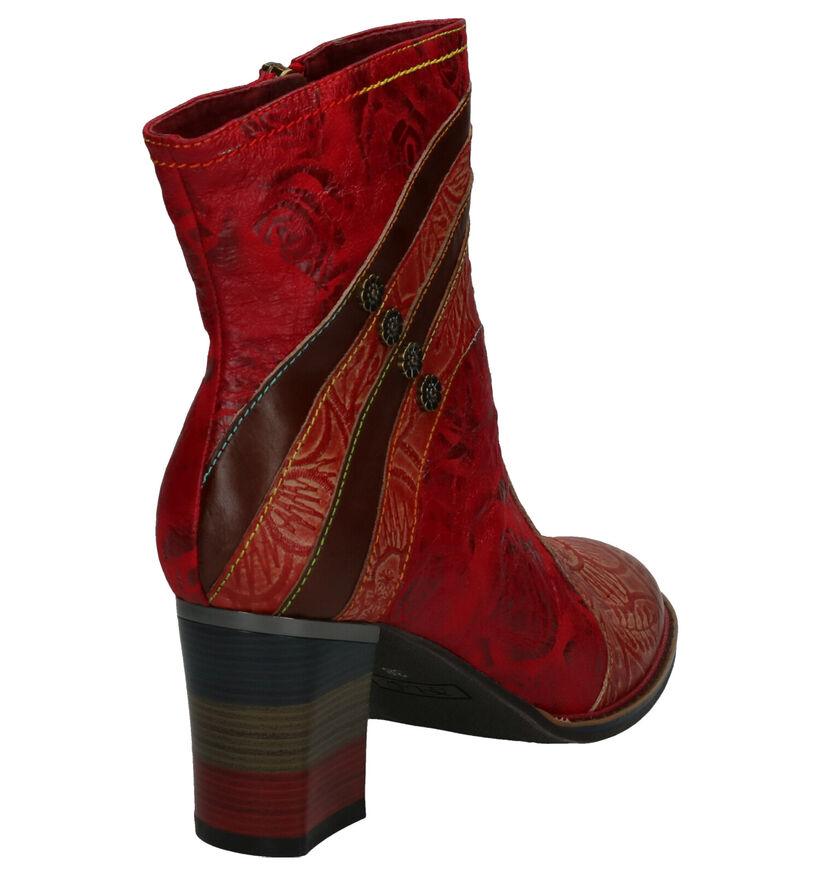 Laura Vita Geceko Bottillons en Rouge en cuir (261494)