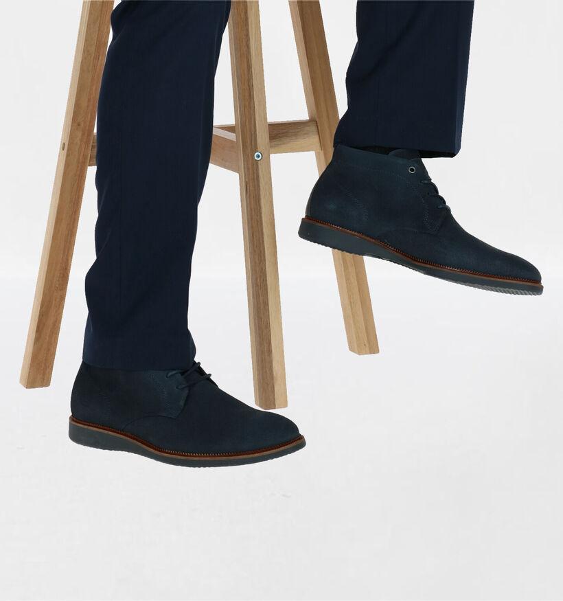 Bullboxer Chaussures hautes en Bleu foncé en nubuck (276958)